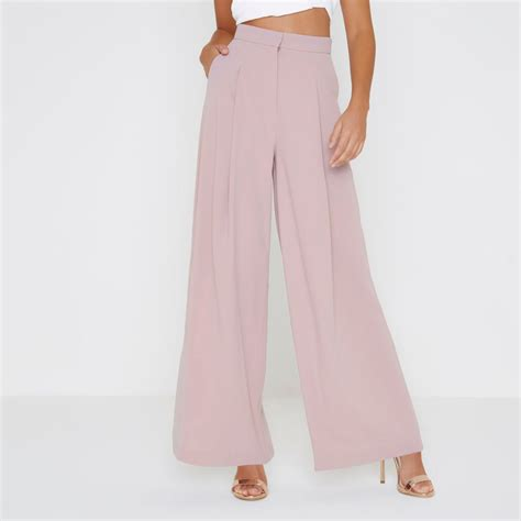 light pink womens light pink wide leg trousers trousers sale