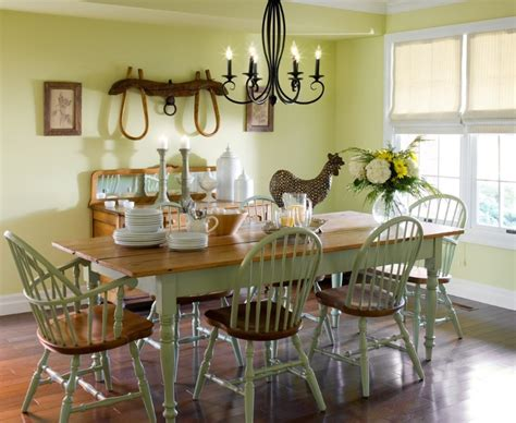 Country Dining Room by Country Dining Room Decor With Antler Chandeliers
