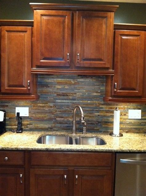 slate backsplashes for kitchens slate backsplash ideas for the kitchen rapflava