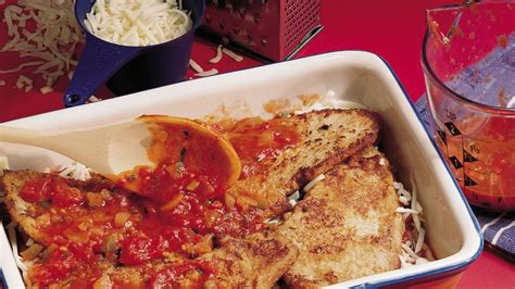veal parm veal parmigiana recipe from betty crocker
