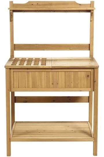smith hawken potting bench eucalyptus wood potting bench outdoors pinterest