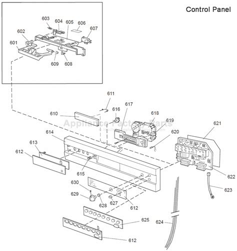Parts For 1355 Us White Bi Asko Dishwashers