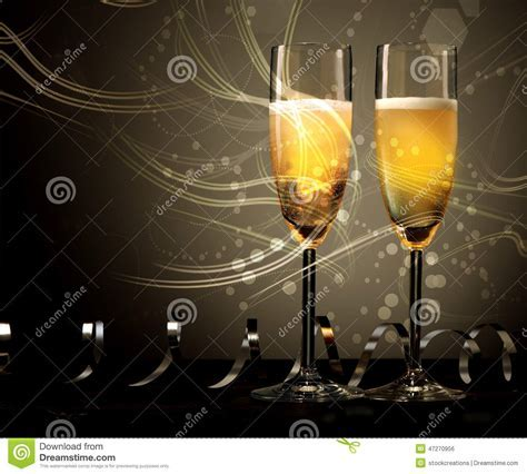 New Year, Wedding Or Anniversary Champagne Stock Photo