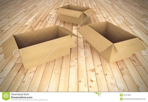 empty cardboard boxes on floor stock photography image