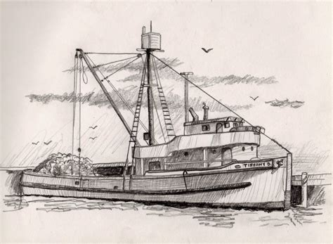 fishing boat sketch the gallery for gt fishing boat sketch