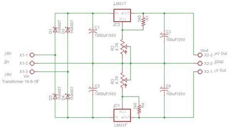 dual power supply circuit diagram dual adjustable dc power supply circuits4you