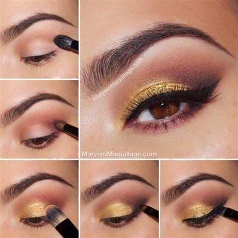 eyeshadow tutorial with gold 22 pretty eye makeup ideas for summer pretty designs