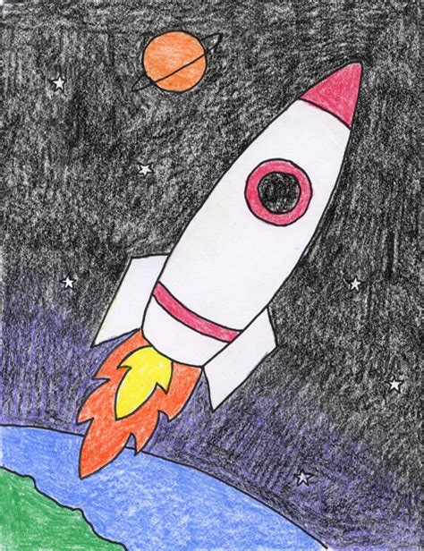 drawing crafts for rocket projects for
