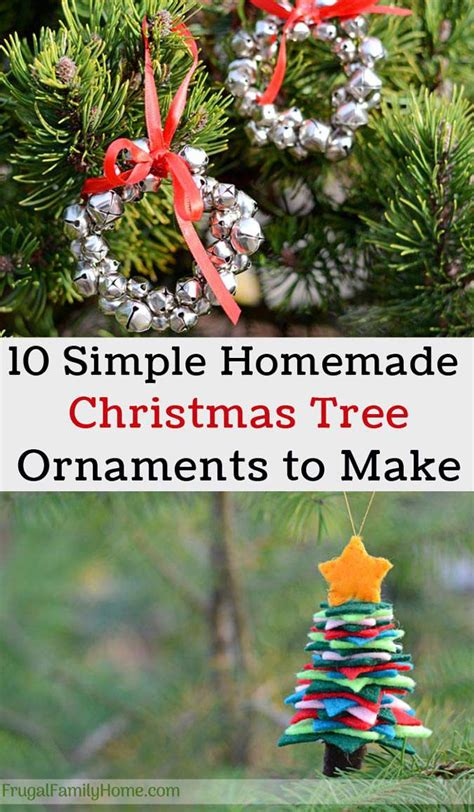 tree decorations children can make 10 easy tree ornaments to make frugal family home