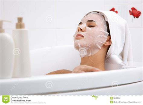 bathroom facials beauty procedures stock image image 32730161