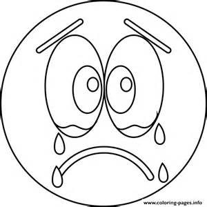 sad cry emoji coloring pages printable