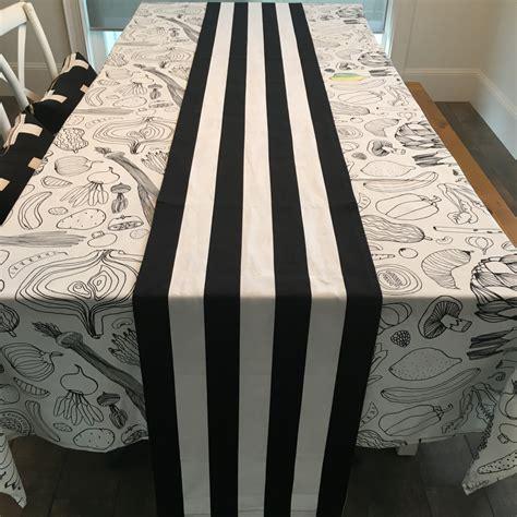 black white table runner black white stripe table runner wide stripe table runner