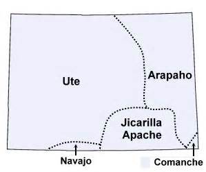 colorado american tribes map colorado indian tribes and languages