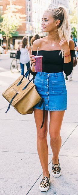 17 best ideas about denim skirt on