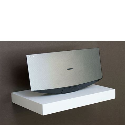 floating media shelf white media floating shelf kit 450x300x50mm ebay