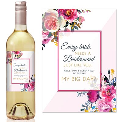 Be My Bridesmaid Wine Label will you be my bridesmaid bridesmaid wine labels