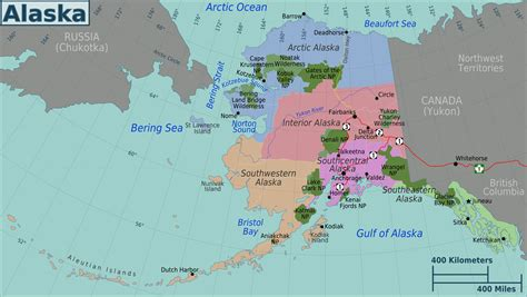 where is alaska on a map alaska and canada port of call destination maps