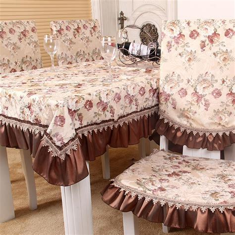 dining table cover set millet home fabric quality modern fashion flower table