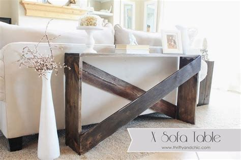 sofa table pinterest easy diy sofa table furniture pinterest