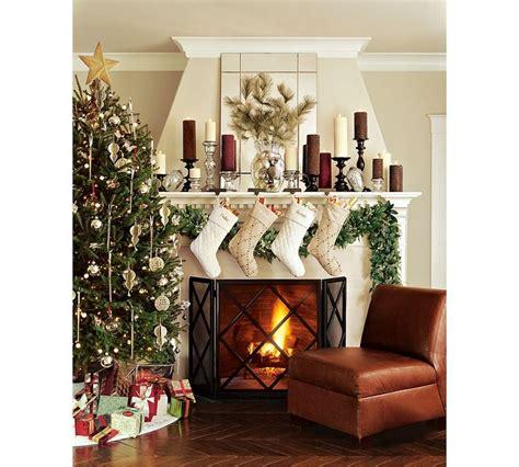 christmas tree and mantel dreaming of a white christmas