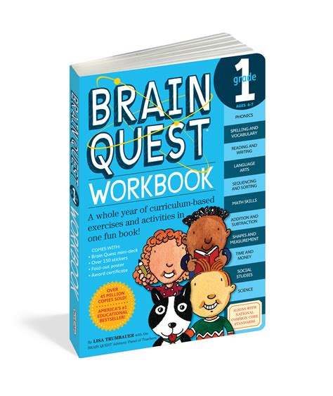 Brain Quest Workbook Grade 2 Ages 7 8 With 150 Stickers workman publishing