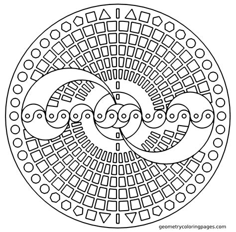 simple pattern to draw geometric coloring pages bestofcoloring com