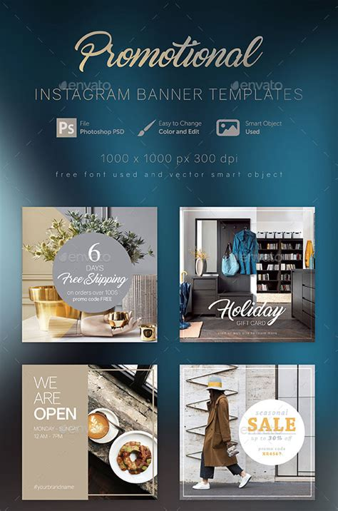 Instagram Advertising 101 Awesome Ad Templates For Download Instagram Ad Template