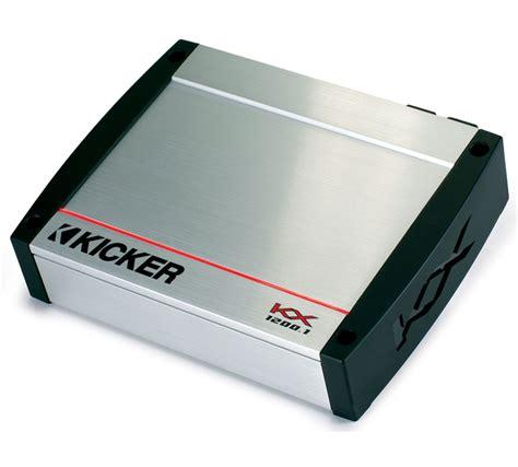 Kickers Limited 4 kicker kx1200 1 kx series class d mono car sub 1200 watts w built in crossover 40kx12001