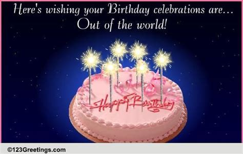 A Sparkling Birthday Wish! Free Birthday Wishes eCards