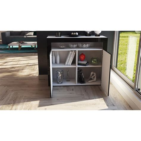kommode offen cabinet sideboard cupboard led valencia in white high