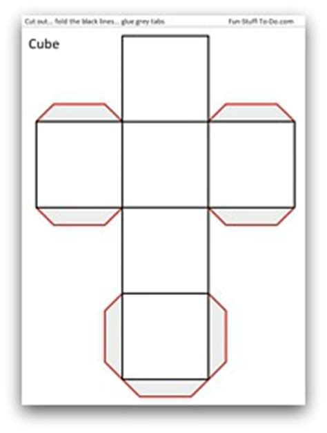 cuboid net template printable 5 best images of printable 3d shape cube a4 3d shape