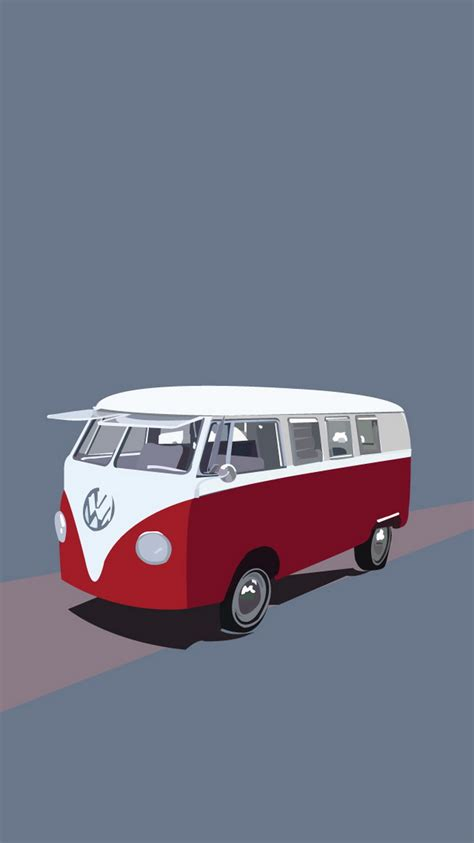 volkswagen bus iphone wallpaper volkswagen type 2 hippie van illustration iphone 6