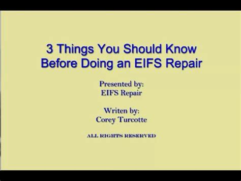 7 Car Maintenance Things A Should How To Do by 3 Things You Should Before Doing An Eifs Repair