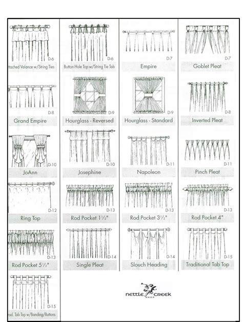 types of curtain headings curtain heading styles google search interior design