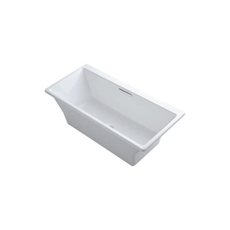 kohler reve bathtub kohler reve 5 58 ft center drain freestanding bathtub