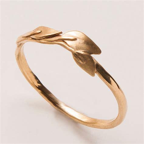 Vintage Verlobungsring by Leaves Ring 14k Gold Ring Unisex Ring Wedding Ring Wedding