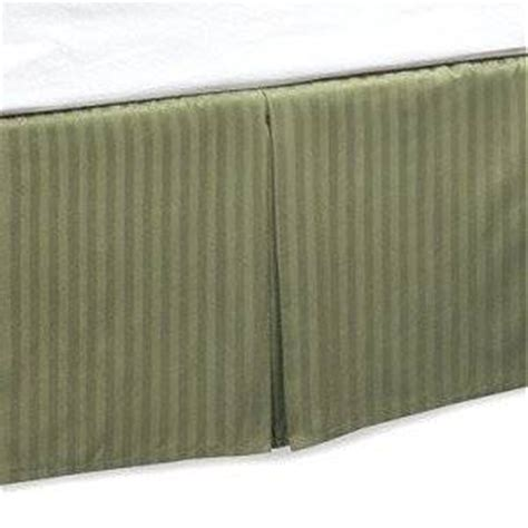 bed skirt amazon king size tailored bed skirt pleated 14 quot drop stripe sage green amazon co uk kitchen