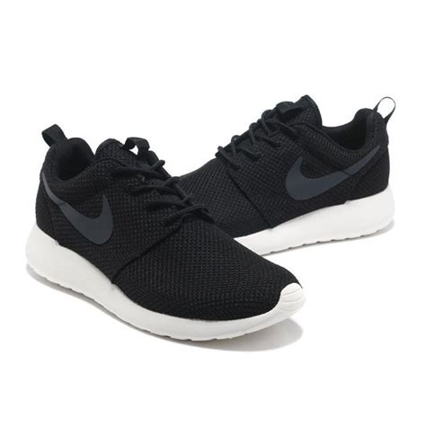 nike black athletic shoes nike roshe one mens black mesh 010 lace up athletic