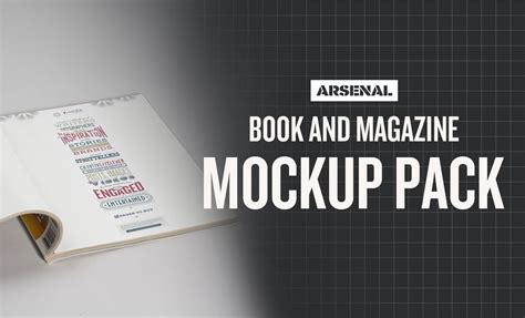 Magazine Photoshop Template by Photoshop Book Magazine Mockup Templates Pack