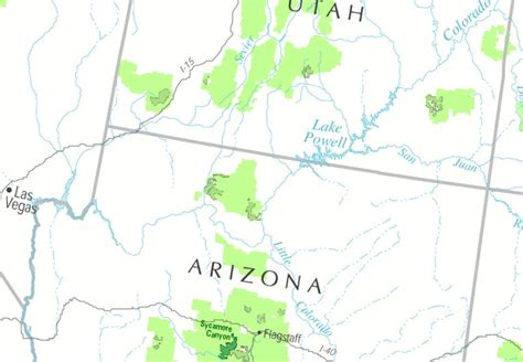 utah arizona map southern utah northern arizona class i map forest