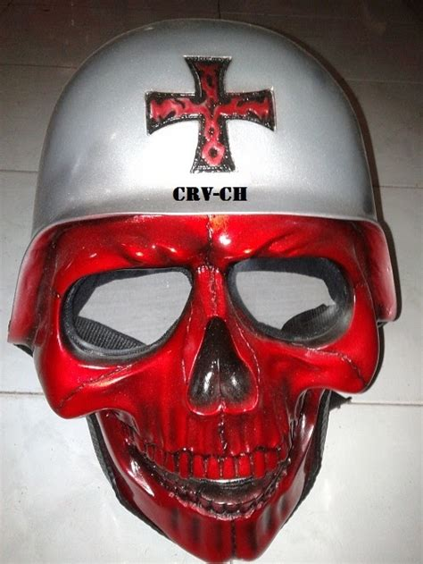 Gelang Kulit Model Tengkorak Skull 11 cross army skull