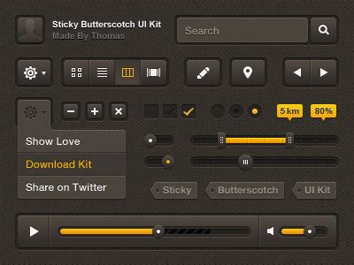 20 free and new psd ui kits 20 ui kits from dribbble free psd files the design work