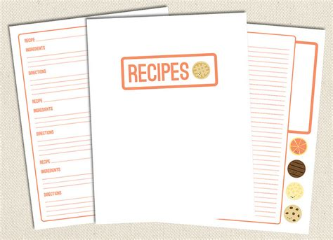 free recipe binder templates olive printable pages for your recipe binder