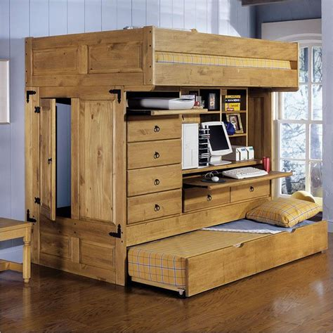 pull out desk shelf twin loft bed with desk trundle frame bookcase pull out