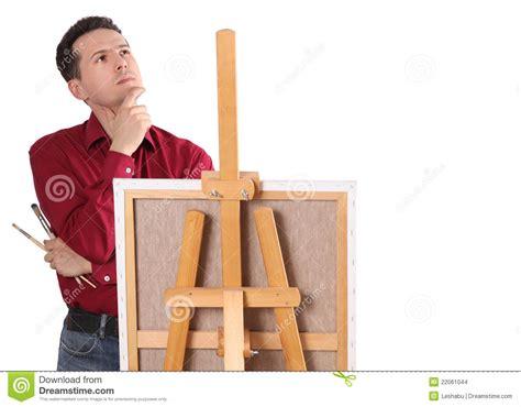 das gestell k 252 nstler maler durch das gestell stockbilder bild 22061044