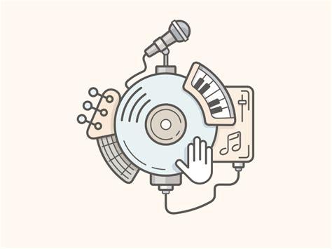 Kb Home Design Studio music line vector illustration
