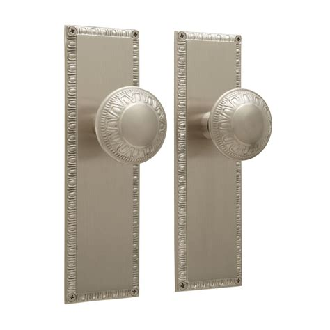 egg dart door knob and plate set privacy passage and