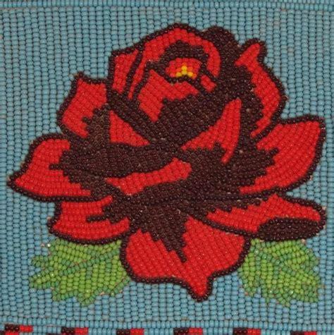 beadwork rose beaded checkbook cover