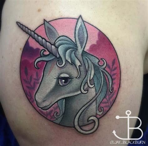 New School Unicorn Tattoo | new school unicorn from quot the last unicorn quot by jay