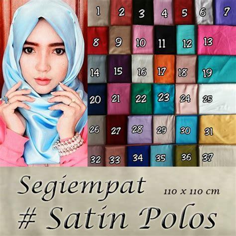 Jilbab Pashmina Satin Polos Kerudung Pashmina Satin Polos grosir segiempat satin polos sentral grosir jilbab